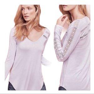 New Anthropologie Deletta crochet long sleeve top